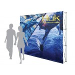 Pop-Up Fabric Display - Straight Wall With No Wrap Around (10'x8') Logo Branded