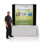 Tabletop 6ft Custom Trade Show Display. Tabletop Pop Up Displays effectivel Custom Imprinted