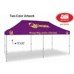 Custom Printed Polyester Canopy Outdoor Event Pop Up Tent - 2 Color (10'x20')