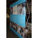 Banner Including Made in USA Pop-up Stand Custom Printed