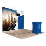 Logo Branded 10'x10' Quick-N-Fit Booth - Package # 1104