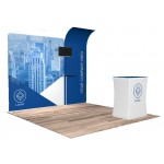 10'x10' Quick-N-Fit Booth - Package # 1110 Logo Branded