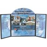 Voyager Maxi 3 Panel Folding Panel Tabletop Display Kit Custom Imprinted
