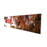 Custom Printed 30ft Fabric Pop Up Display - Straight - With Graphic