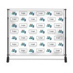 Step and Repeat Backdrop 8X8 Custom Printed