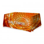 Premium Table Throw 4ft 3-Sided (Open Back) (Full-Color Dye Sublimation, Full Bleed) Custom Printed