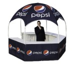 Custom Imprinted 10ftx10ft Outdoor Kiosk with Full Graphics