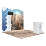 10'x10' Quick-N-Fit Booth - Package # 1108 Custom Printed