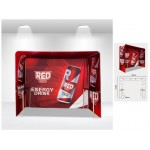 Square Arch Trade Show Booth With Shelves - Back Panel Included Custom Printed