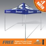 Custom Printed The Best Pop Up Canopy Tent In The Promo Industry - Ultra Strong & Durable Aluminum W/ Full Dye Top
