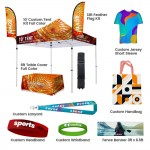 Custom Printed Custom Tent Team Show Kit Set I (for 301-500 members)