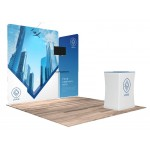 10'x10' Quick N Fit Display Booth - Package #1105 Logo Branded