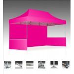 Custom Imprinted 10'x15' V3 Premium Aluminum Tent Frame w/ Pink Top