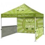 10'x10' Event Tent w/ Full Back Wall & 2 Sided 1/2 Walls Custom Printed