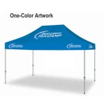 Commercial Grade Vinyl Canopy Outdoor Pop Up Tent - 1 Color (10'x20') Custom Printed