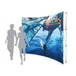 Pop-Up Fabric Display - Curved Wall No Wrap Around (10'x8') Custom Printed