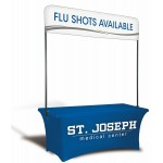 Logo Branded 6' Table Top Billboard Double Sided Banner (Quarter Height)