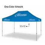 Commercial Grade Vinyl Canopy Outdoor Pop Up Tent - 1 Color (10'x15') Custom Printed
