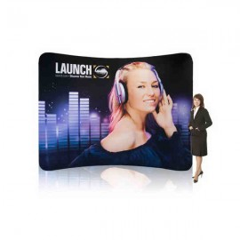 10' EZ Tube Trade Show Booth Display - Curved Single Sided w/ Graphic Custom Imprinted