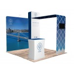 Logo Branded 10'x10' Quick-N-Fit Booth - Package # 1101