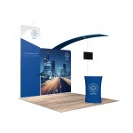 10'x10' Quick-N-Fit Trade Show Booth # 1103 Logo Branded