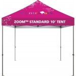 Custom Printed 10' Zoom Outdoor Tent with Custom Printed Canopy