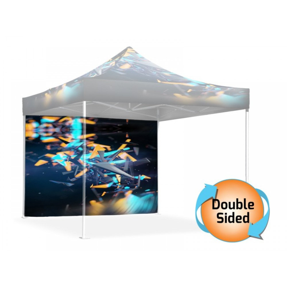 10' Double Sided Printed Tent Wall Logo Branded