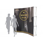 Pop-Up Fabric Display - Curved Wall With No Wrap Around (8'x8') Custom Imprinted