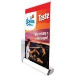 Mini Tabletop Retractable Vinyl Banner w/Stand Custom Imprinted