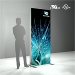 Logo Branded LED Fabric Light Box - 31x80inch - Double Sided