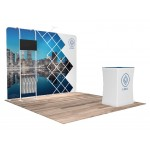 Logo Branded 10'x10' Quick-N-Fit Booth - Package # 1112