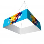 Hanging Banner 10 ft Square 42 in (Outside Graphic Package) Logo Branded