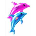 "Logo Branded 22"" Dolphin Inflatable Zoo Animal"