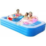 Logo Branded Inflatable Pool for Adults, Kids, Family Kiddie Swimming Pool, Toddlers for Ages 3+