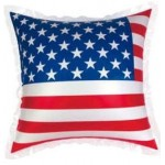 Custom Printed Inflatable USA Flag Pillow