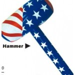 "36"" Inflatable Patriotic Hammer Custom Imprinted"