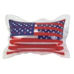 """11"""" Inflatable Clear Two Sided U.S. Flag Pillow Custom Imprinted"""