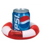 Inflatable Two Tone Life Preserver Shape Drink Holder Logo Branded