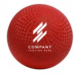 """Playground Ball Rubber 2-ply Official Size 8.5"""" - Red Custom Imprinted"""