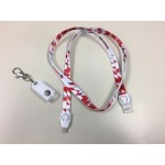 Logo Imprinted 2-IN-1 Lanyard USB Data Transfer Cable