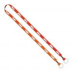 """Custom Printed Import Rush 1/2"""" Dye-Sublimated 2-Ended Lanyard with Dual Silver Crimps & Split-Rings"""