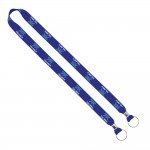 """Import Rush 3/4"""" Dye-Sublimated 2-Ended Lanyard with Dual Silver Crimps & Split-Rings Logo Imprinted"""