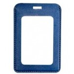 PU Leather Vertical Badge Holder Logo Imprinted