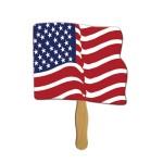 Flag Sandwiched Hand Fan Full Color Logo Branded