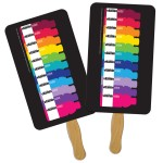 Rectangle Sandwiched Hand Fan Full Color Custom Imprinted