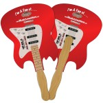 Electric Guitar Fast Hand Fan (2 Sides) 1 Day Custom Imprinted