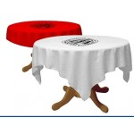 """36"""" Draped Sublimated All-Over Round Table Throw Custom Imprinted"""