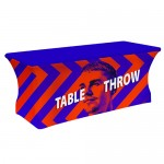 Custom Imprinted 6' Strech Table Throw Graphic Package (4-Sided)