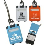 Suitcase Shaped Luggage Tag with Pop Up Cover Logo Branded