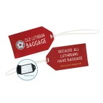 Elite Woven Luggage Tag with Tyvek Insert Logo Branded